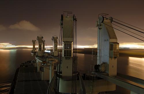Ship Underway at Night