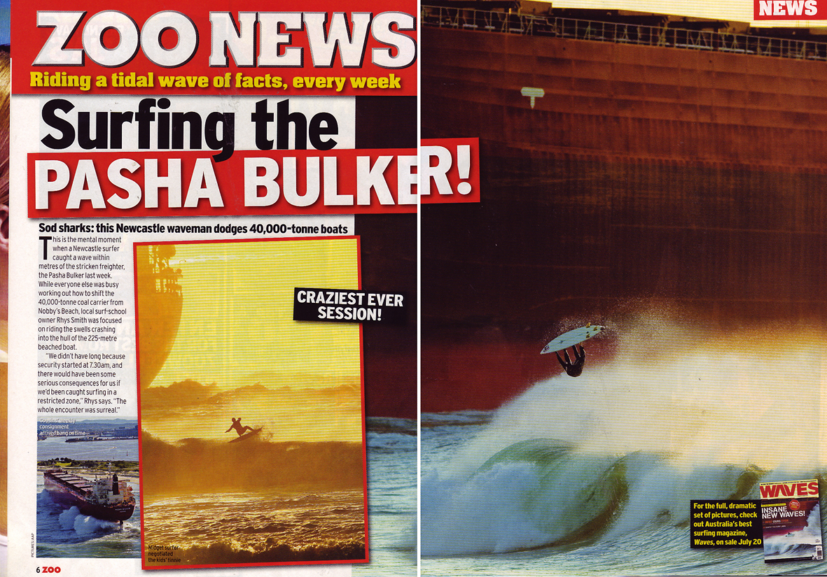 Pasha Bulker Frontpage News